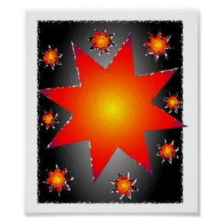 Sun Stars Posters
