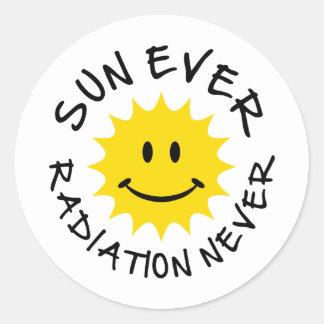 sun classic round sticker