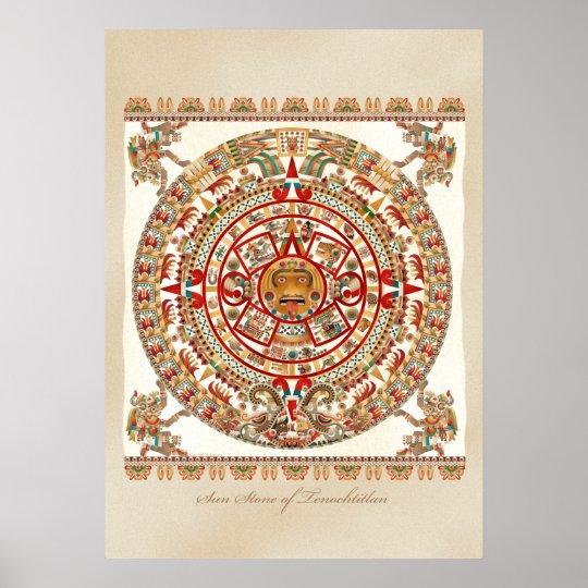 Sun Stone of Tenochtitlan Poster