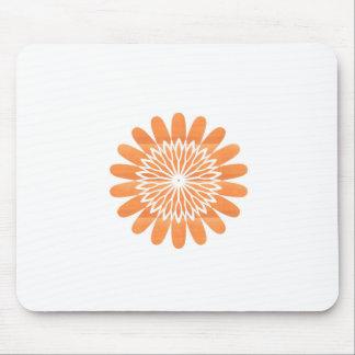 SUN Sunflower Sparkle Orange Round NVN700 gifts fu Mouse Pad