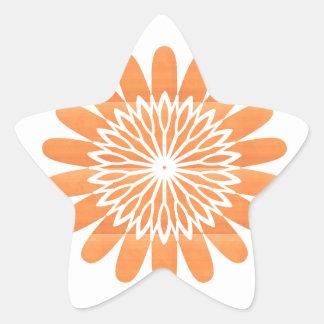 SUN Sunflower Sparkle Orange Round NVN700 gifts fu Star Sticker