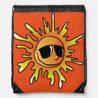 Sun Sunglasses Drawstring Bag