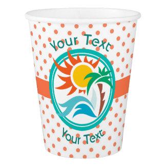 Sun & Surf (Orange Dots) Paper Cup