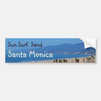 Sun Surf Sand Santa Monica bumpersticker Bumper Stickers