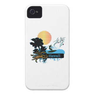 Sun Surfer Palms Gulls HAWAII iPhone 4 Case-Mate Case