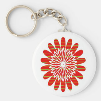 SUN SUTRA : Reiki Master created RED SHADE energy Basic Round Button Key Ring