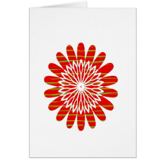 SUN SUTRA : Reiki Master created RED SHADE energy Greeting Card