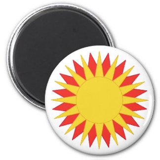Sun Symbol 6 Cm Round Magnet