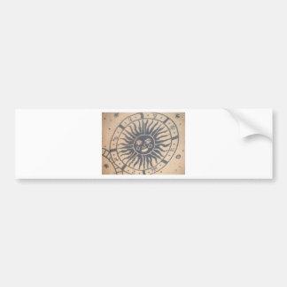 Sun Tapestry Bumper Sticker