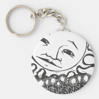 Sun Tarot Basic Round Button Key Ring
