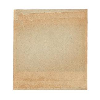 Sun Tinted Brown Vintage Old Paper Looking Notepad