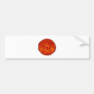 Sun transparent bumper sticker