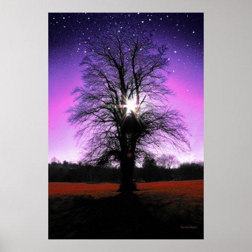 Sun-Tree-Stars Print