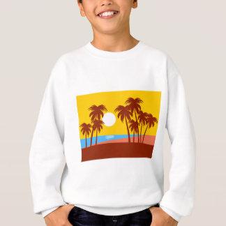 Sun Trees Beach Landscape Nature Sunlight Sky Sweatshirt