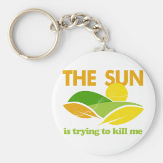 Sun Trying To Kill Me Basic Round Button Key Ring