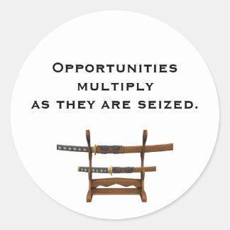 Sun Tzu Quote Round Sticker