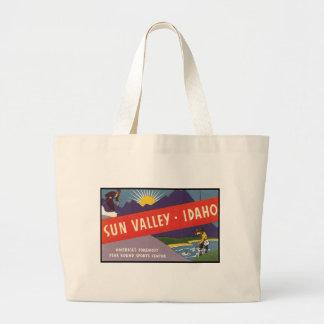 Sun Valley Idaho Large Tote Bag
