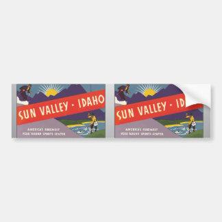 Sun Valley Idaho, Vintage Bumper Sticker