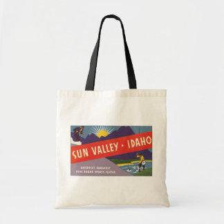 Sun Valley Idaho, Vintage Tote Bag