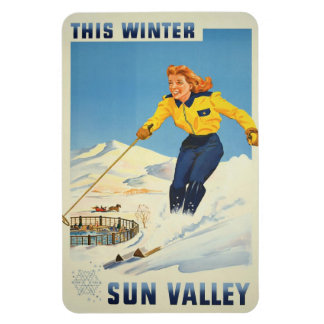 Sun Valley, Idaho Vintage Travel magnet
