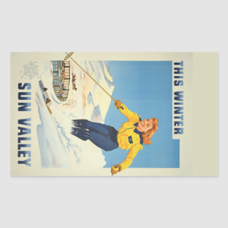 Sun Valley, Idaho Vintage Travel stickers