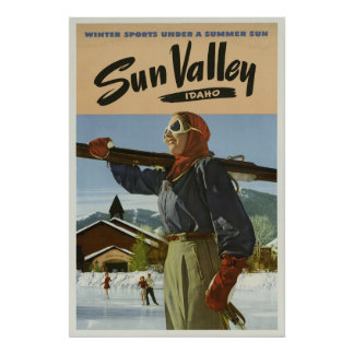 Sun Valley Idaho Winter Sports Vintage Travel Poster