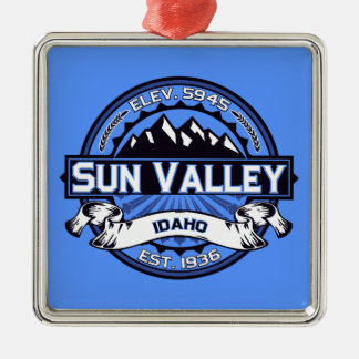 Sun Valley Logo Blue Christmas Ornament