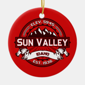 Sun Valley Logo Red Christmas Ornament
