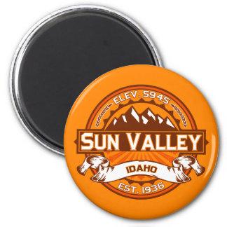 Sun Valley Logo Tangerine Magnet