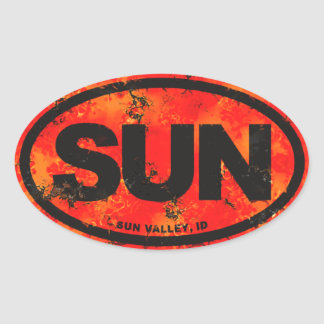 Sun Valley Oval Sticker
