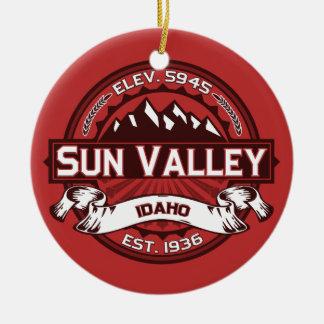 Sun Valley Red Round Ceramic Decoration