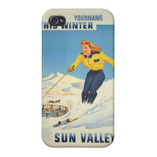 Sun Valley USA Vintage Travel cases Case For iPhone 4
