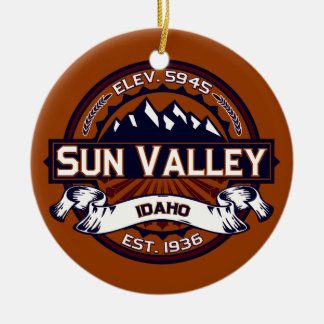 Sun Valley Vibrant Round Ceramic Decoration