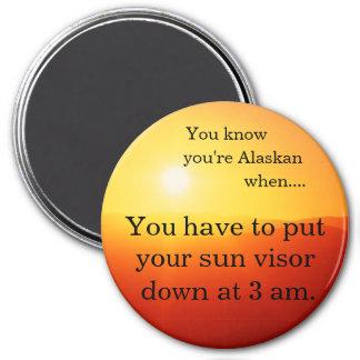 Sun visor at 3a.m. 7.5 cm round magnet