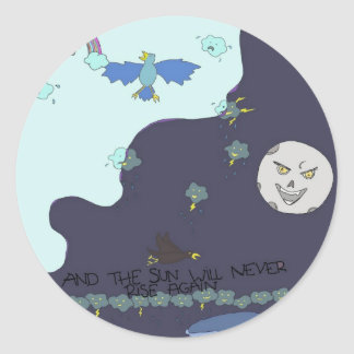 sun vs the moon! stickers