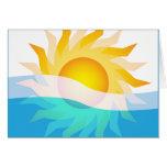 Sun & Waves Card