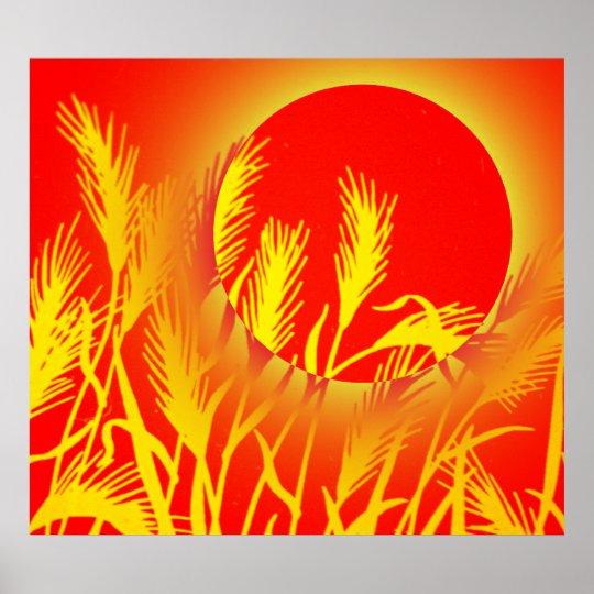 Sun Wheat Poster