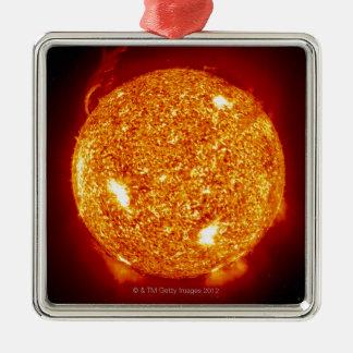 Sun with solar flares christmas ornament
