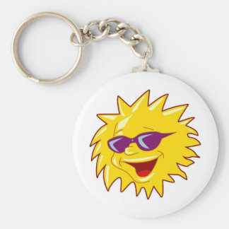 Sun with Sunglasses Key Chain
