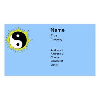 Sun Yin Yang Pack Of Standard Business Cards