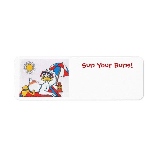 Sun Your Buns/Vacation Humour