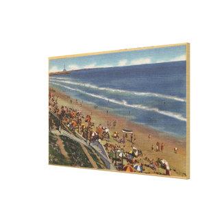 Sunbathers Looking Towards Belmont Shores Canvas Print
