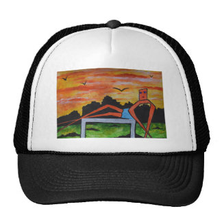 Sunbathing model cap
