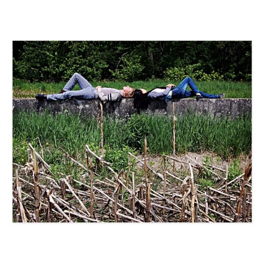 Sunbathing - Shift by Richard Serra Postcard
