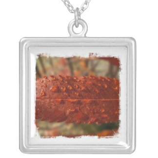 Sunbeam on Mountain Ash Square Pendant Necklace
