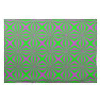 Sunbeams in Green and Pink tiled Placemats