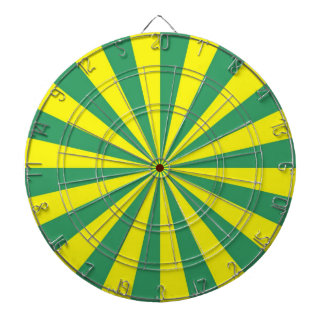 Sunbeams in Green and Yellow Dartboard
