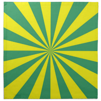 Sunbeams in Green and Yellow Napkins