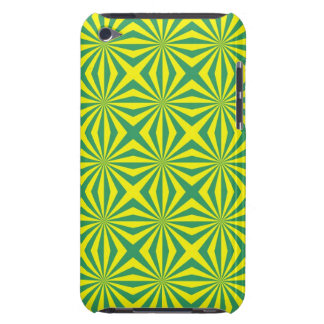 Sunbeams in Green and Yellow tiled iPod Touch Cases