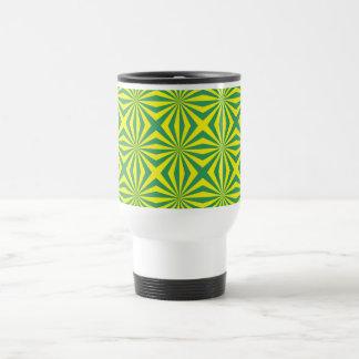 Sunbeams in Green and Yellow tiled Mug